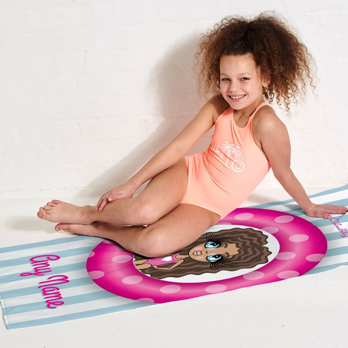 ClaireaBella Girls Pool Party Beach Towel - Image 4
