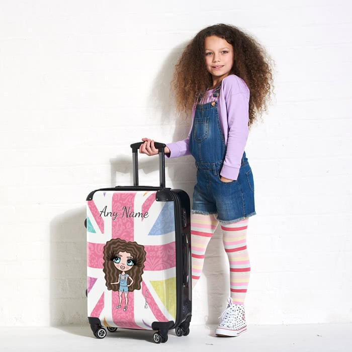 ClaireaBella Girls Union Jack Suitcase - Image 2