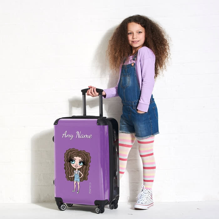 ClaireaBella Girls Purple Suitcase - Image 1