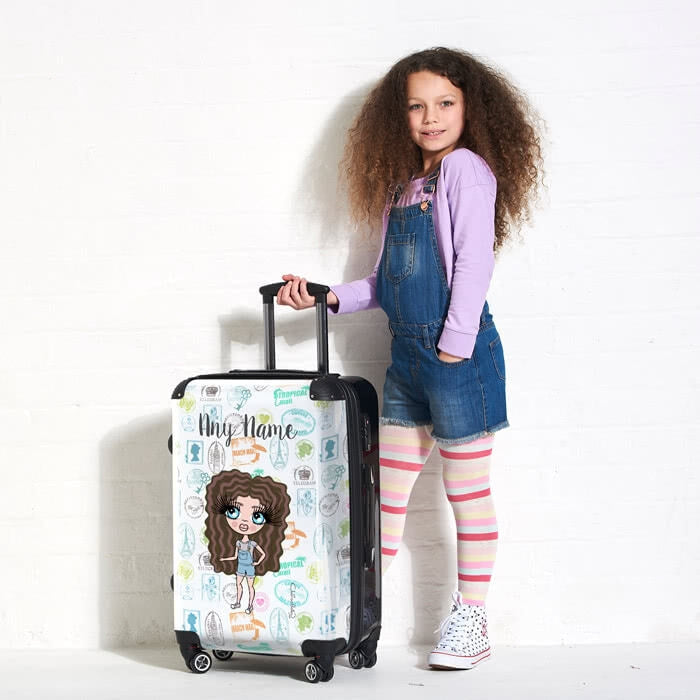 ClaireaBella Girls Travel Stamp Suitcase - Image 3
