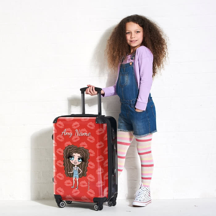 ClaireaBella Girls Lip Print Suitcase - Image 6
