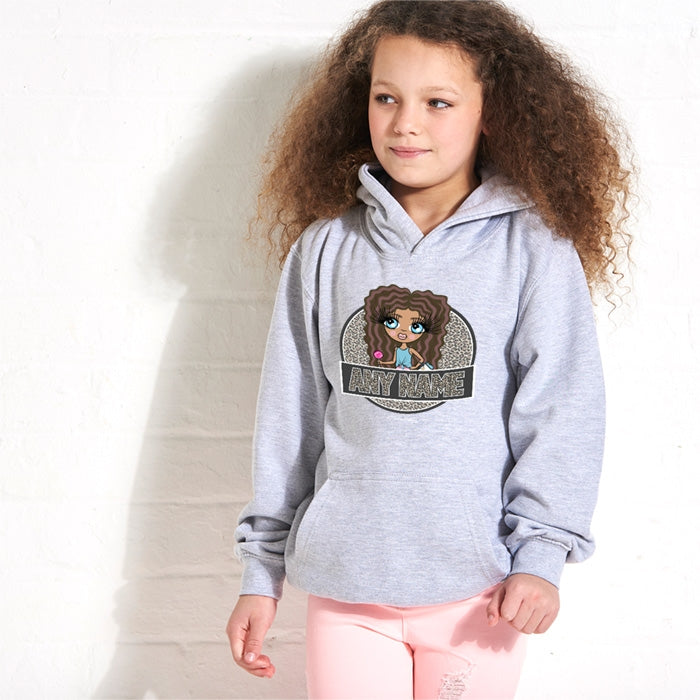 ClaireaBella Girls Animal Print Hoodie - Image 1