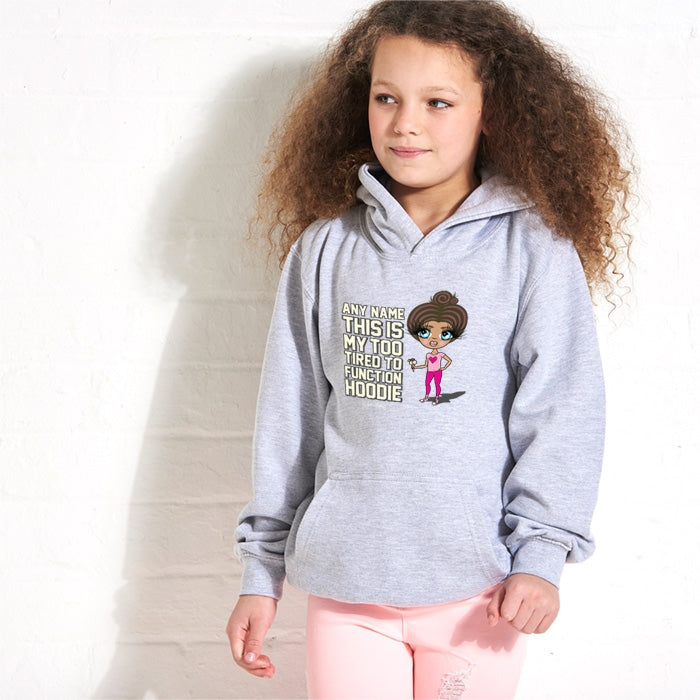 ClaireaBella Girls Too Tired Hoodie - Image 4