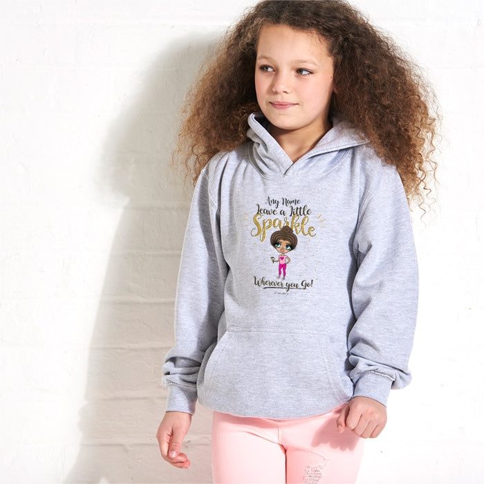 ClaireaBella Girls A Little Sparkle Hoodie - Image 1