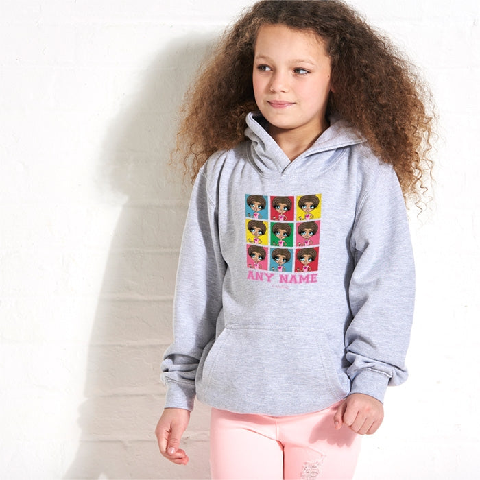 ClaireaBella Girls Colour Collage Hoodie - Image 1