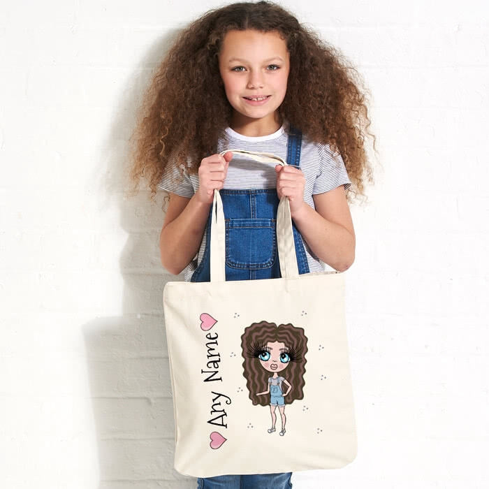 ClaireaBella Girls Pastel Canvas Shopper - Image 1
