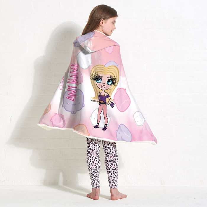 ClaireaBella Girls Marshmallow Hooded Blanket - Image 3