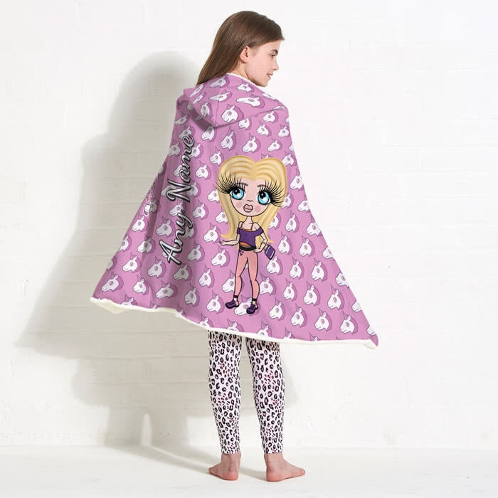 ClaireaBella Girls Unicorn Emoji Hooded Blanket - Image 7