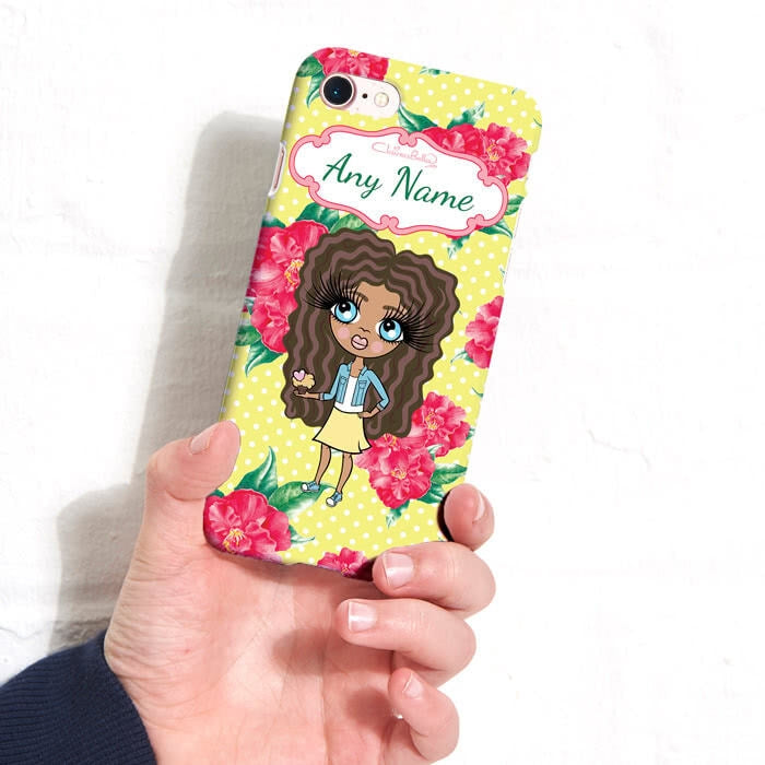 ClaireaBella Girls Personalised Lemon Floral Phone Case - Image 4