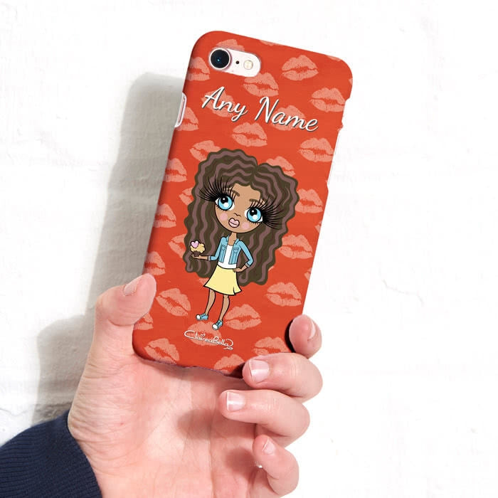 ClaireaBella Girls Personalised Lip Print Phone Case - Image 4