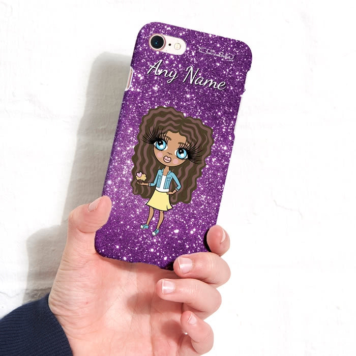 ClaireaBella Girls Personalised Glitter Effect Phone Case - Image 5