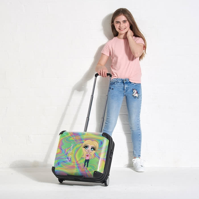 ClaireaBella Girls Hologram Weekend Suitcase - Image 3