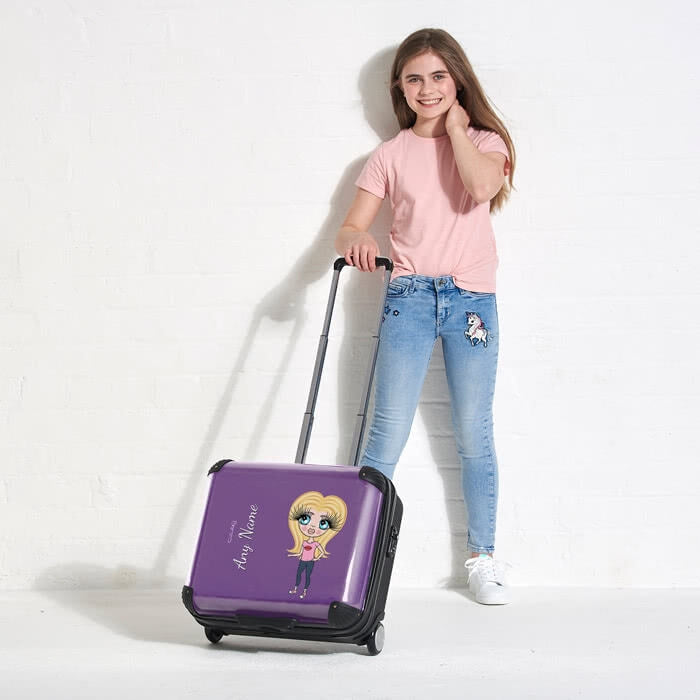 ClaireaBella Girls Purple Weekend Suitcase - Image 6