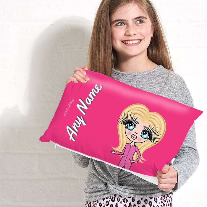 ClaireaBella Girls Placement Cushion - Hot Pink - Image 2
