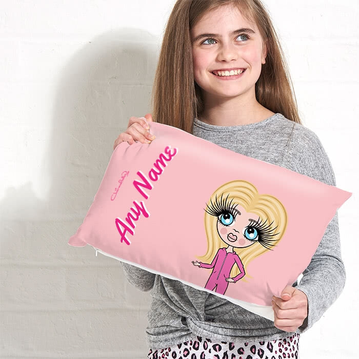 ClaireaBella Girls Placement Cushion - Dusty Pink - Image 1