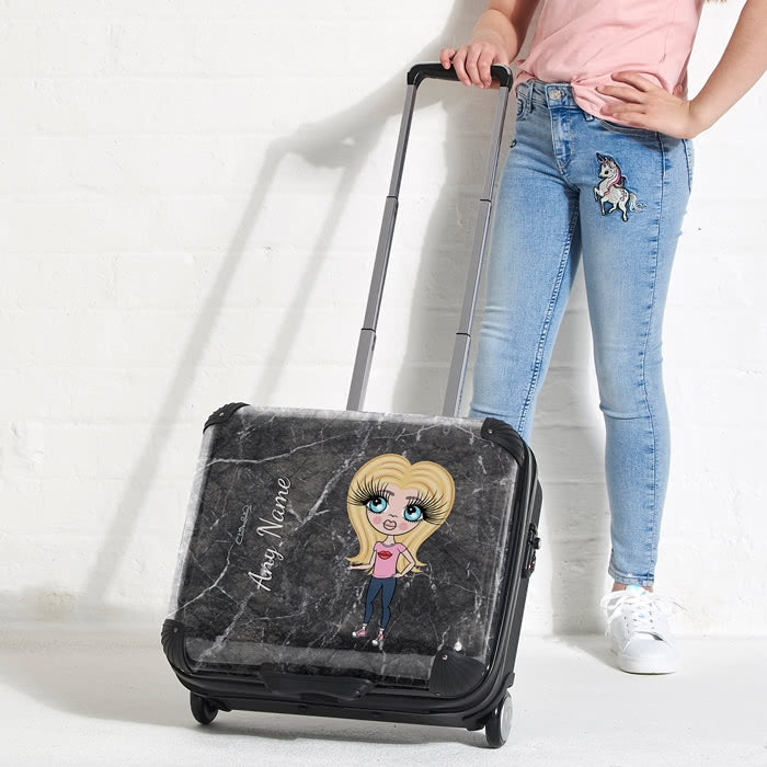 ClaireaBella Girls Marble Effect Weekend Suitcase - Image 4