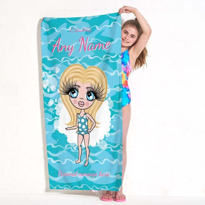 ClaireaBella Girls Pool Beach Towel - Image 2
