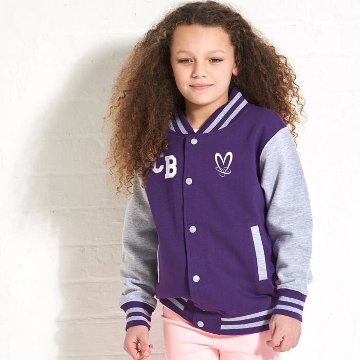 ClaireaBella Girls Baseball Jacket - Image 3
