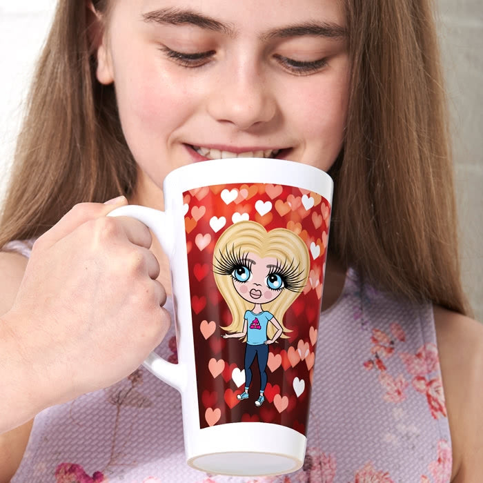 ClaireaBella Girls Heart Latte Mug - Image 2