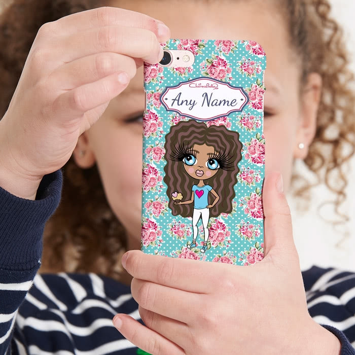 ClaireaBella Girls Personalised Rose Phone Case - Image 1