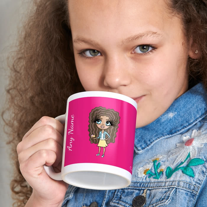 ClaireaBella Girls Hot Pink Mug - Image 1