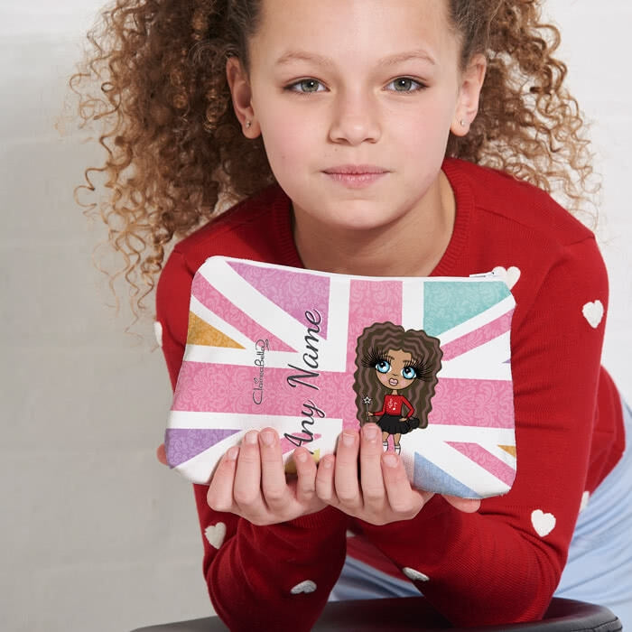ClaireaBella Girls Union Jack Make Up Bag - Image 2