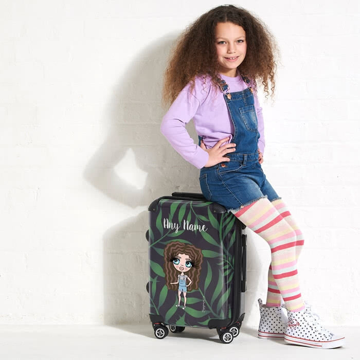 ClaireaBella Girls Tropical Suitcase - Image 1