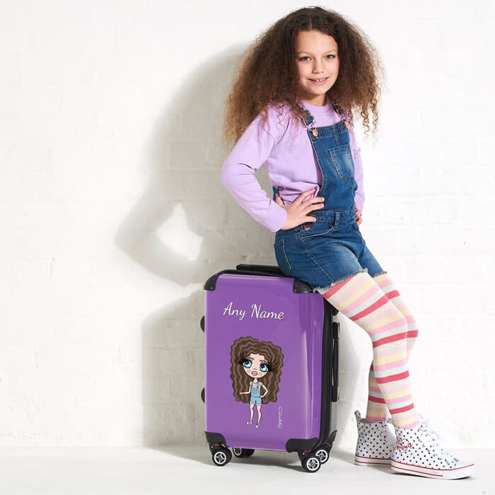 ClaireaBella Girls Purple Suitcase - Image 5