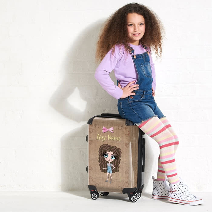 ClaireaBella Girls Jute Print Suitcase - Image 5