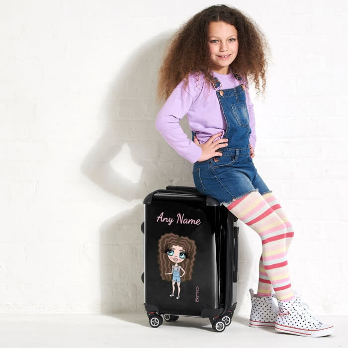 ClaireaBella Girls Black Suitcase - Image 1