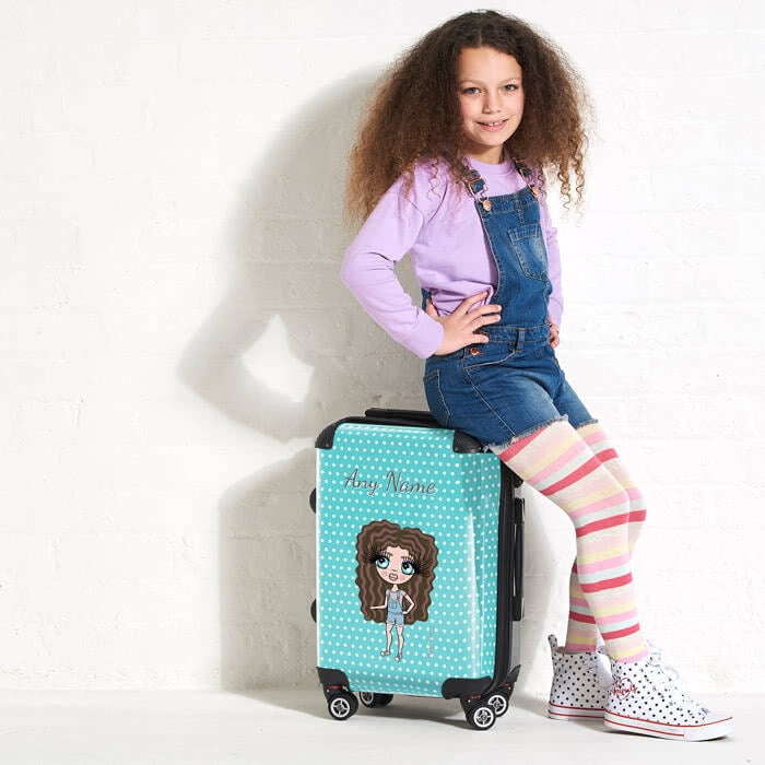ClaireaBella Girls Polka Dot Suitcase - Image 3