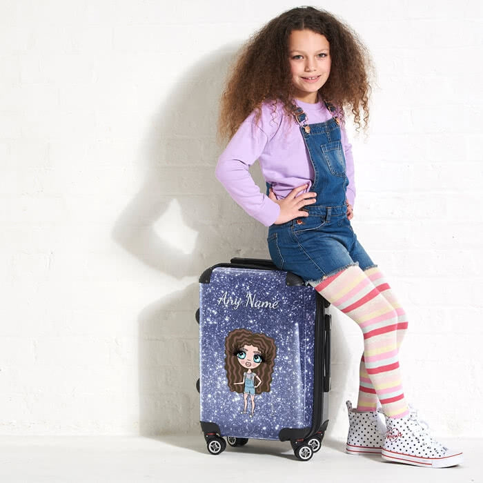 ClaireaBella Girls Glitter Effect Suitcase - Image 2