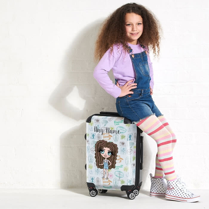 ClaireaBella Girls Travel Stamp Suitcase - Image 5