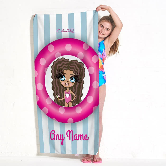 ClaireaBella Girls Pool Party Beach Towel - Image 5