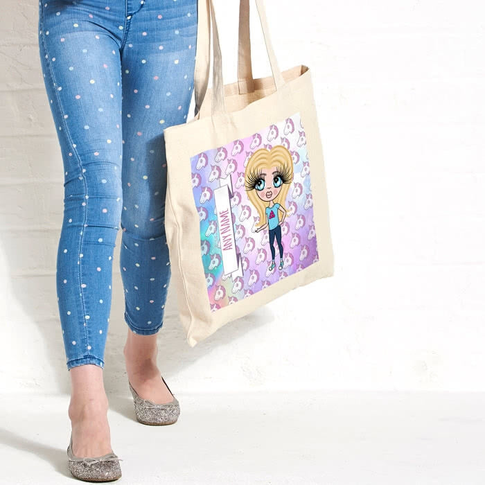 ClaireaBella Girls Unicorn Emoji Canvas Bag - Image 3