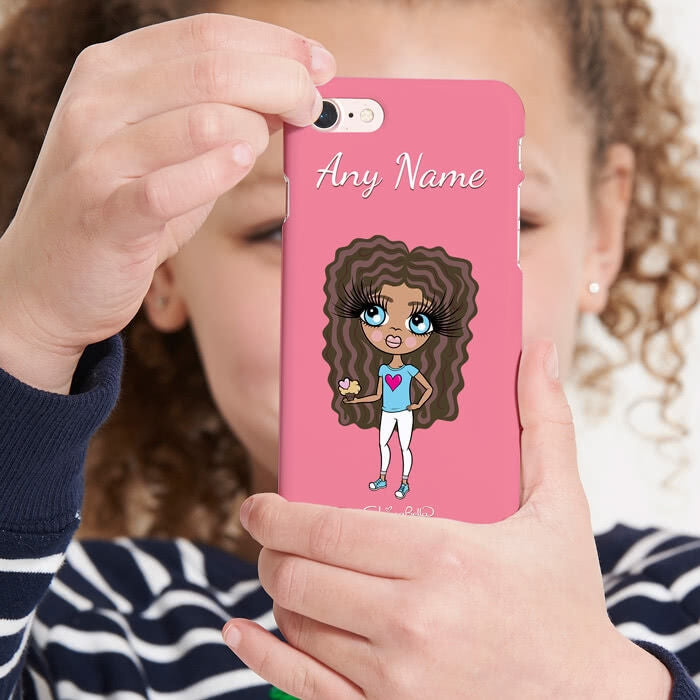 ClaireaBella Girls Personalised Pink Phone Case - Image 5