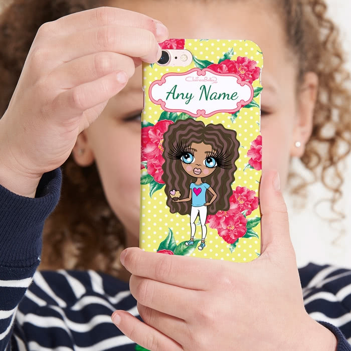 ClaireaBella Girls Personalised Lemon Floral Phone Case - Image 3