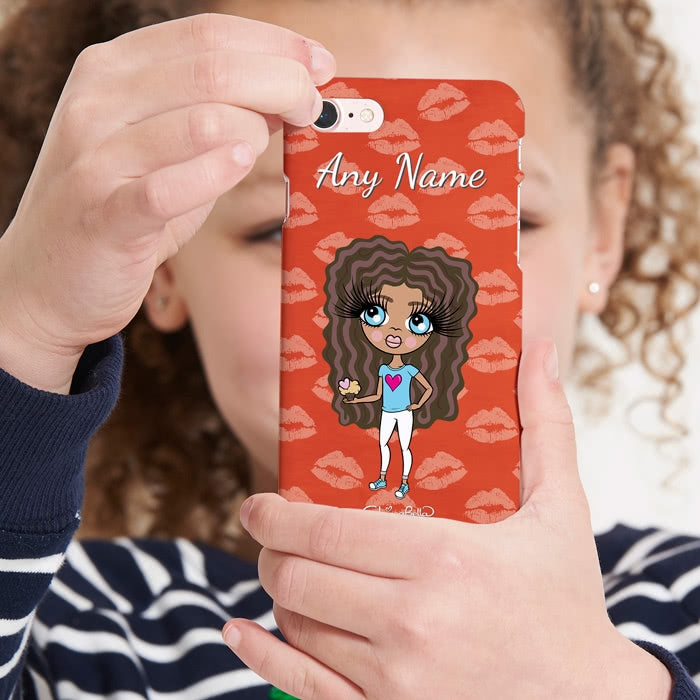 ClaireaBella Girls Personalised Lip Print Phone Case - Image 5