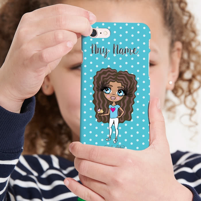 ClaireaBella Girls Personalised Polka Dot Phone Case - Image 1