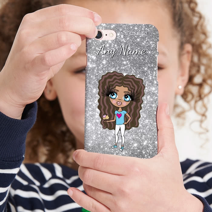 ClaireaBella Girls Personalised Glitter Effect Phone Case - Image 4