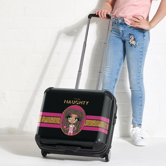 ClaireaBella Girls Slogan Weekend Suitcase - Image 4