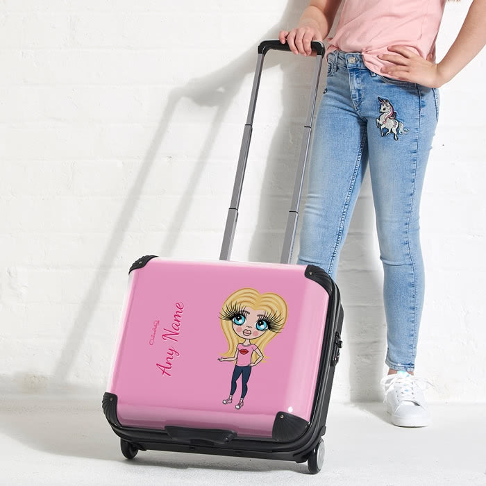 ClaireaBella Girls Pastel Pink Weekend Suitcase - Image 3