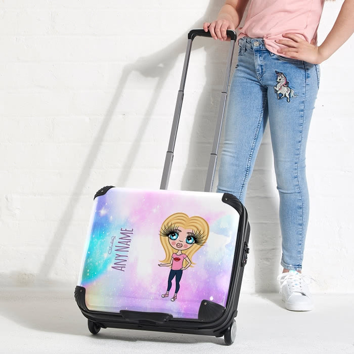 ClaireaBella Girls Unicorn Colours Weekend Suitcase - Image 2