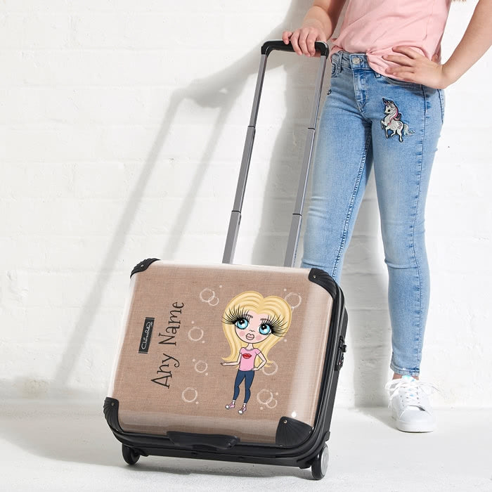 ClaireaBella Girls Jute Print Weekend Suitcase - Image 3
