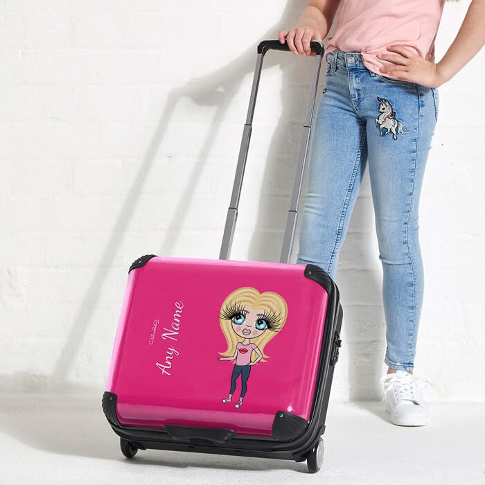 ClaireaBella Girls Hot Pink Weekend Suitcase - Image 1