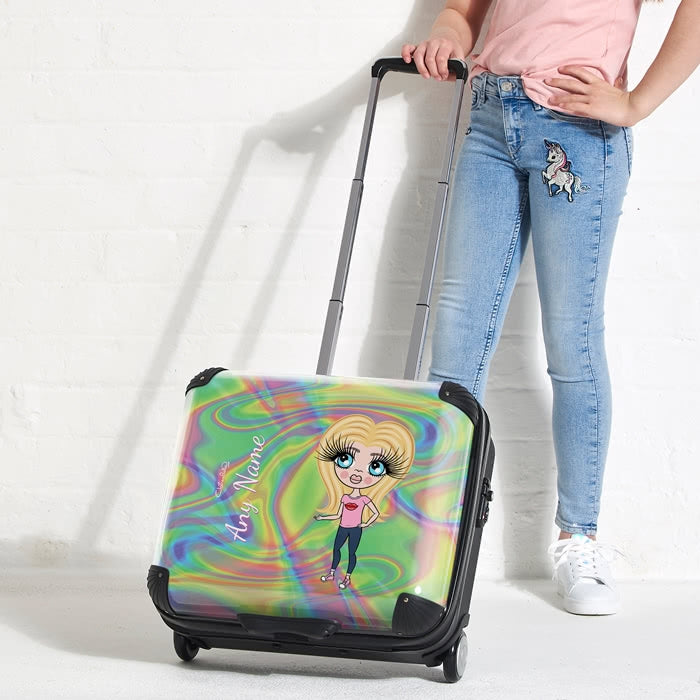 ClaireaBella Girls Hologram Weekend Suitcase - Image 5