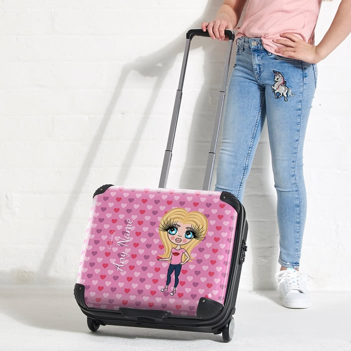 ClaireaBella Girls Hearts Weekend Suitcase - Image 5