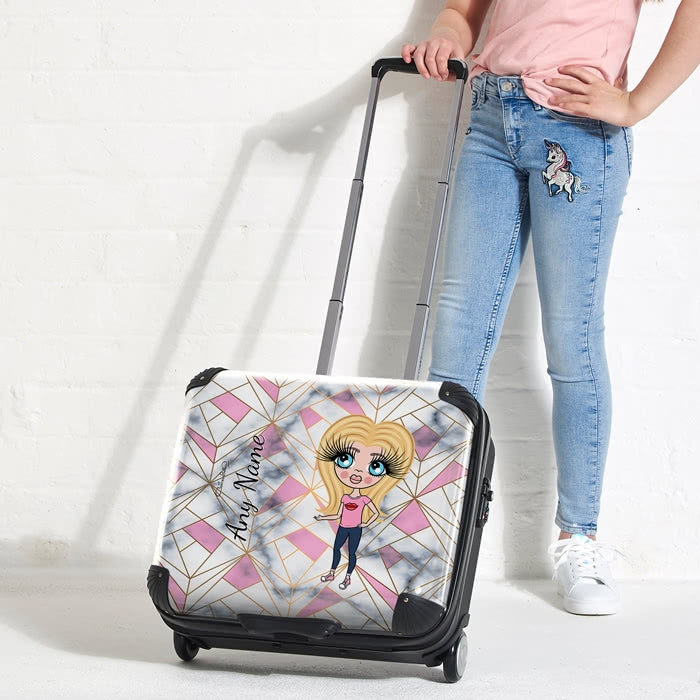 ClaireaBella Girls Geo Print Weekend Suitcase - Image 5