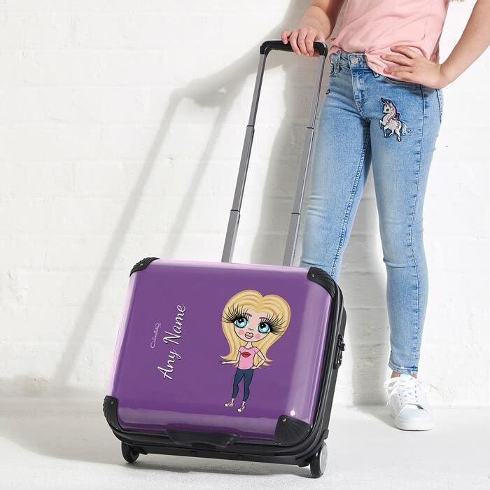 ClaireaBella Girls Purple Weekend Suitcase - Image 3