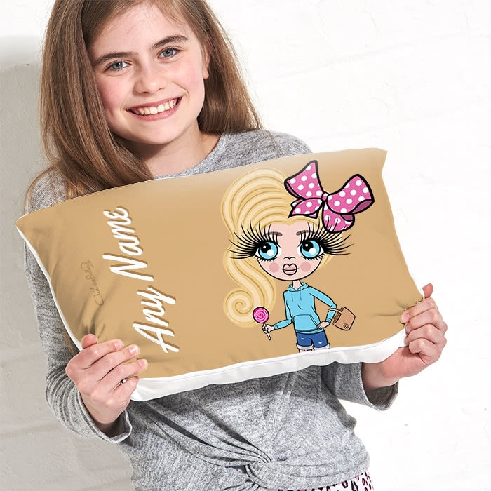 ClaireaBella Girls Placement Cushion - Mocha - Image 1